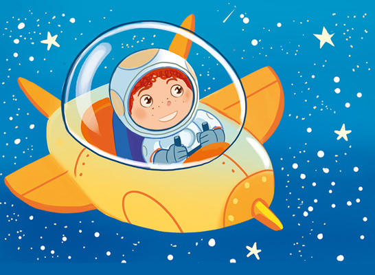 claudio cerri illustration spaceboy