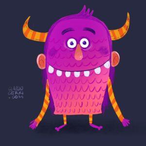claudio cerri monster sketches
